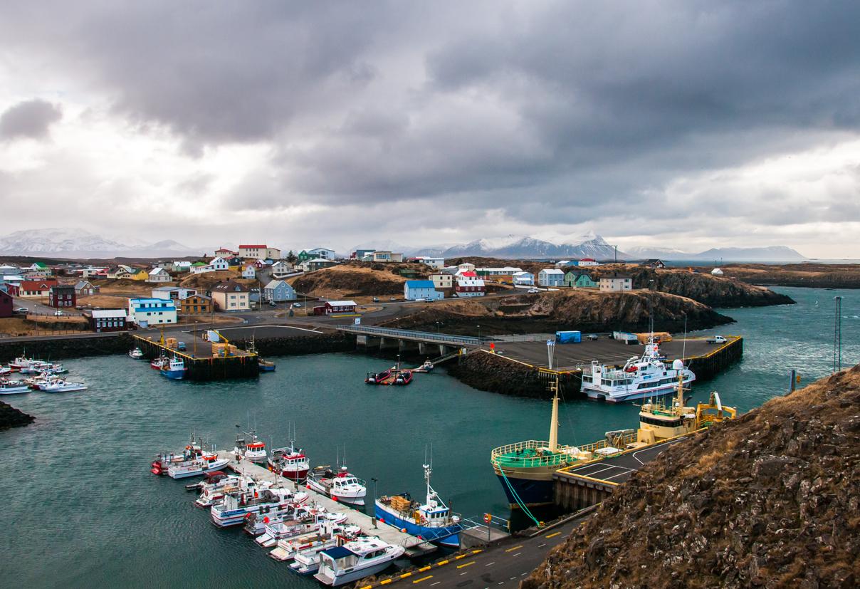 Il porto di Stykkishólmur