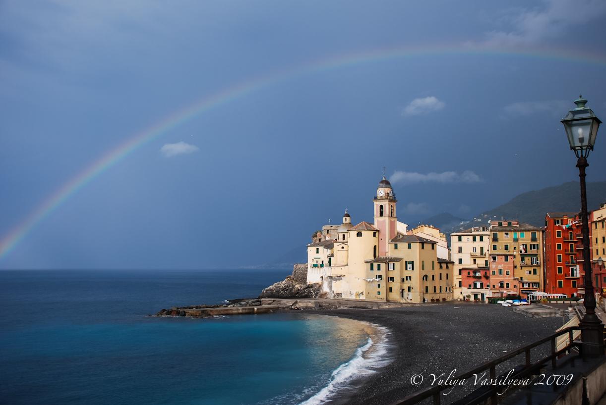 L'arcobaleno su Camogli