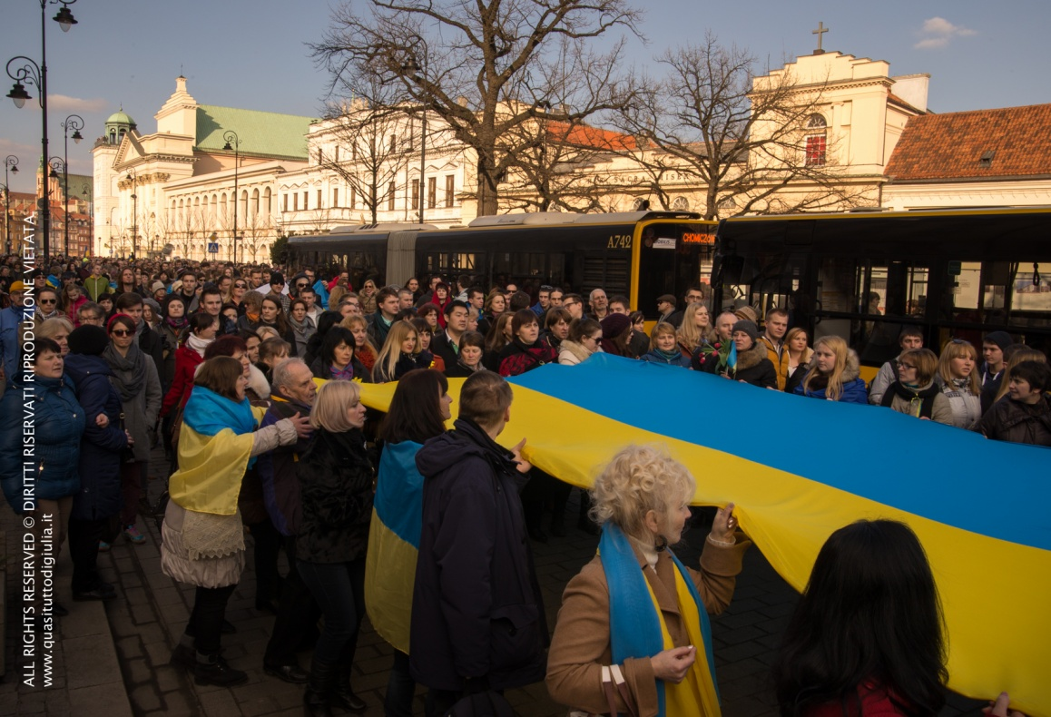 Warsaw, 23 February 2014, in support of anti-government protest in Kiev