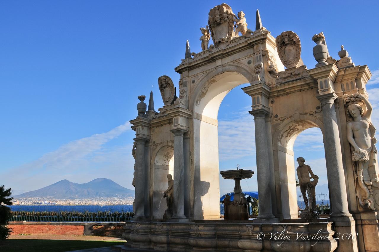 Napoli, vista su Vesuvio