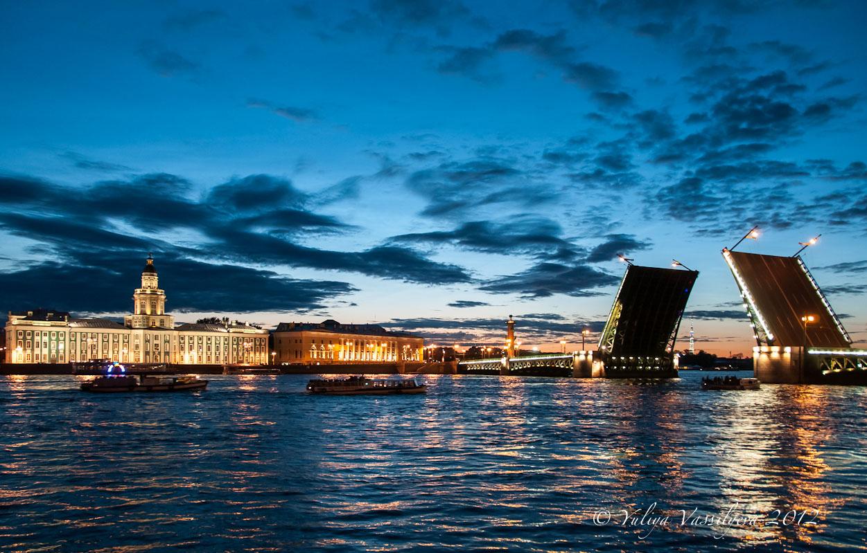 San Pietroburgo - Ponte Dvorzovyj (o del Palazzo), ore 1:30
