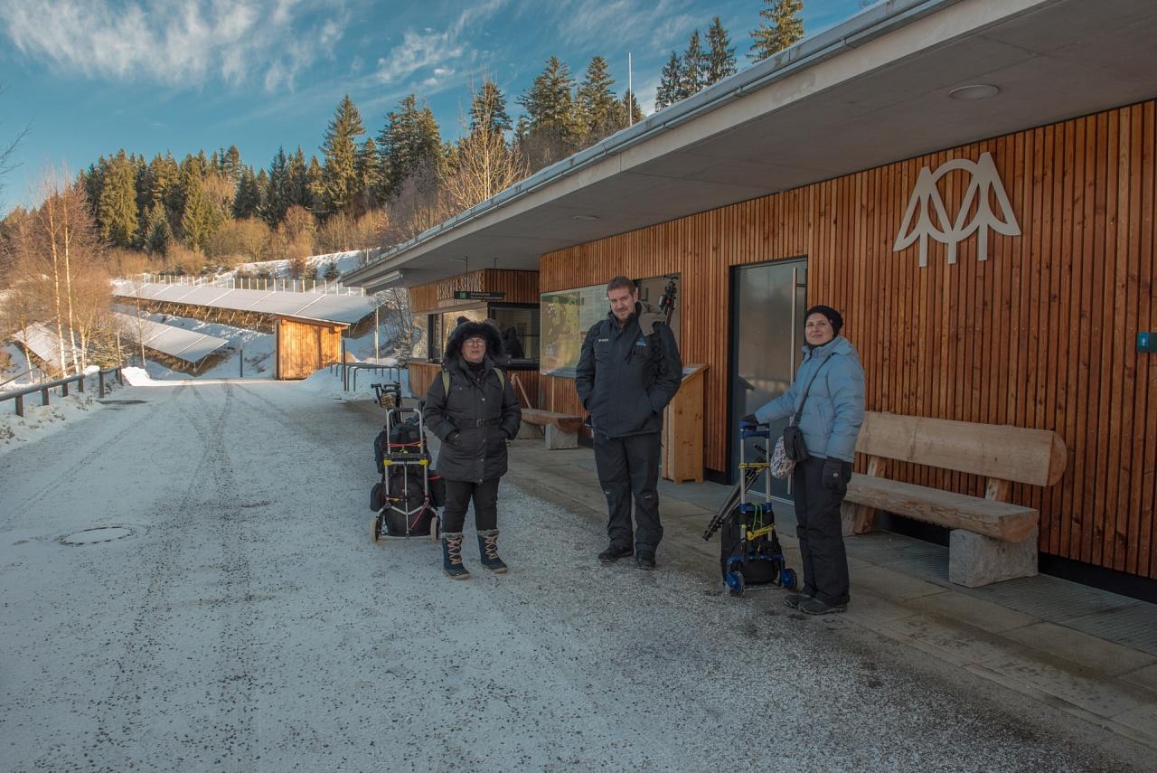 Germania, Bayerischer Wald - Fotografi in azione