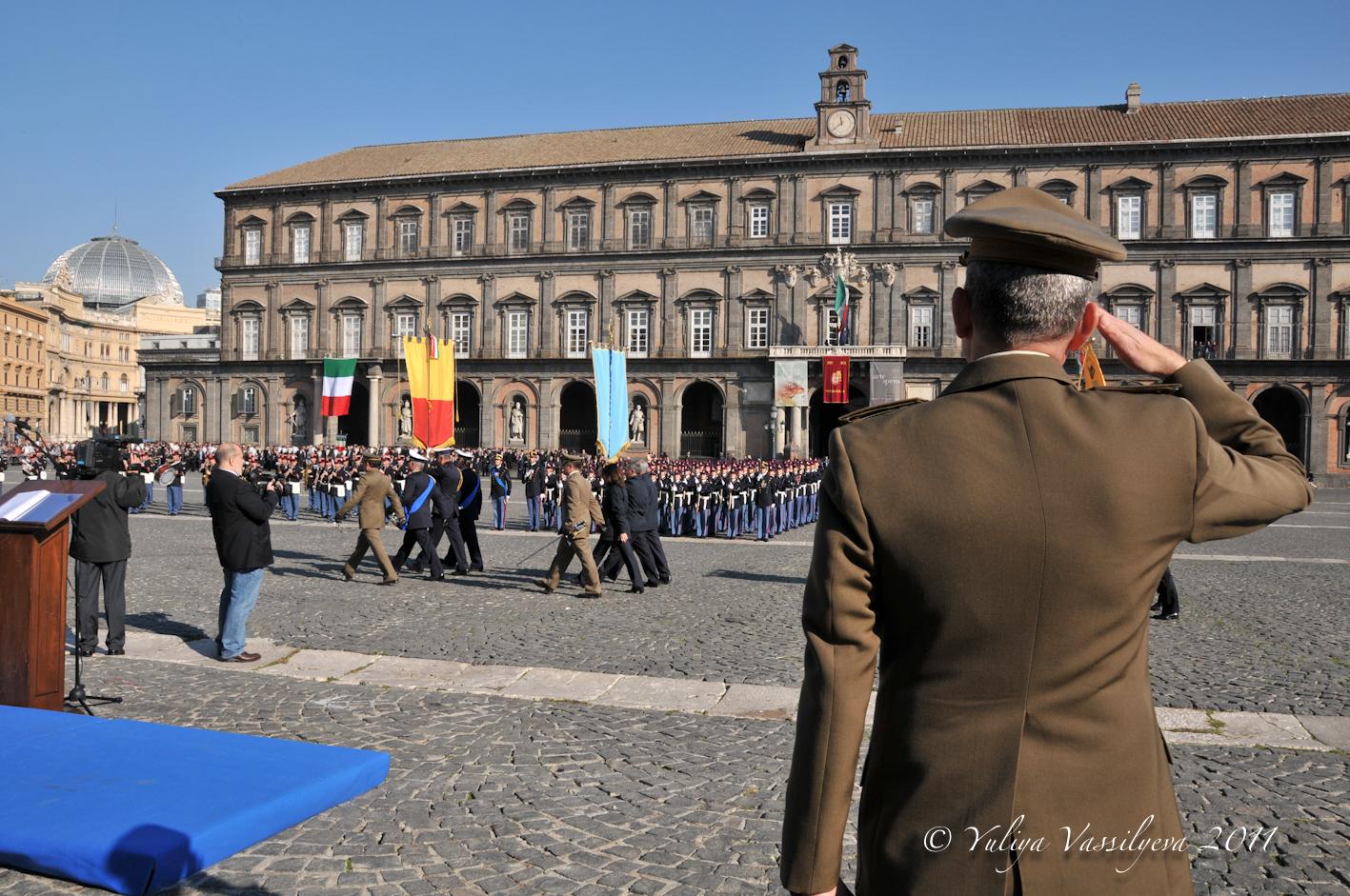 Napoli, Piazza Plebiscito, 19 novembre 2011 - Giuramento degli allievi della Scuola Militare Nunziatella.