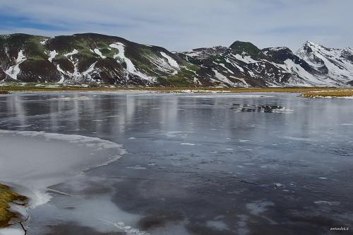 Panorama di ghiaccio lungo la ring road nel sud della Islanda - (icy landscape along the ring road in the South of Iceland)
