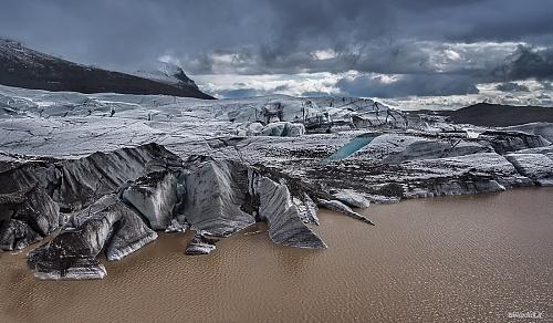 Svínafellsjökull, la lingua del ghiacciaio - (Svínafellsjökull, the glacier tongue.)