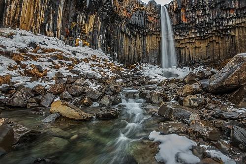 Cascata di Svartifoss - (Svartifoss waterwall)