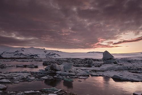 Jokulsarlon - tramonto sulla baia glaciale - (Jokulsarlon - glacial bay - sunset)